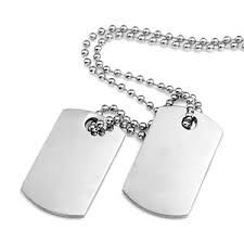 dog tag jewelry engraved polished steel engraved dog tag necklace