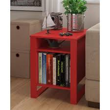 black side table with shelf mainstays side table multiple colors walmart com