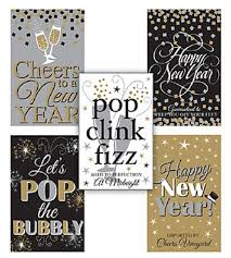 New Year S Eve Decoration Packs by Pack Of 5 New Year Wine Bottle Labels Party Table Decoration