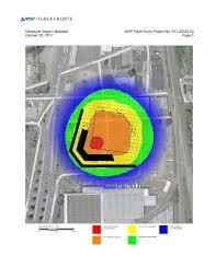 Baseball Map Estimated Noise Light Analyses Say Milwaukie Baseball Stadium