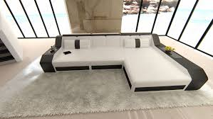 Modern Corner Sofa Bed Modern Sectional Corner Sofa Arezzo L Shape With Led Lights And