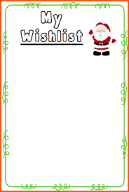christmas wish list 8 christmas list template free survey template words