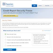 experian credit bureau experian child credit freeze summary newsmom