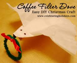coffee filter dove christmas craft celebrating holidays