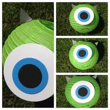 monsters mike wazowski sulley inspired paper lantern