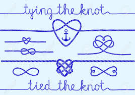 knot wedding tying the knot rope hearts for wedding invitation set of design