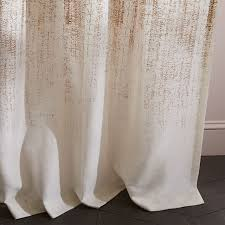 White And Gold Curtains Echo Print Curtains Set Of 2 Gold Dust West Elm