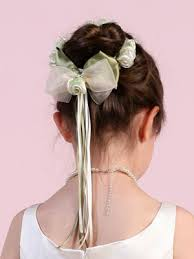 flower girl accessories hair bun wrap for flower girl shoes accessories