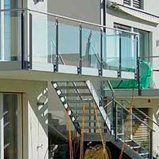 glas f r balkon steel railing glass panel outdoor for stairs trefor 07