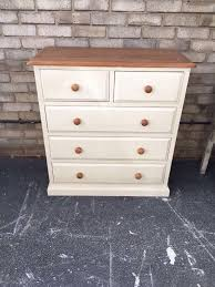 chest of drawers painted french country style solid pine glass
