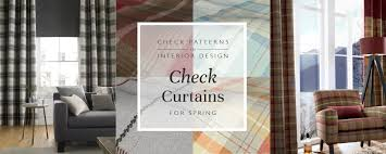 Checkered Curtains by Check Curtains For Spring Blinds Direct Blog