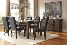 7 Piece Dining Room Set 7 Piece Rectangular Dining Table Set With Upholstered Side Chairs