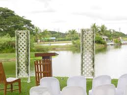 wedding backdrop setup yats clearwater resort country club clark freeport zone