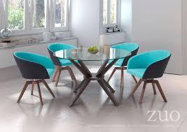 zuo modern cell dining table dark walnut 100198 modern cell dining table dark walnut