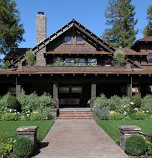 Traditional Craftsman Homes Mountain Style Gable Roof Home Ideas Exterior Craftsman With Brick