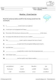 free weather printable resource worksheets for kids