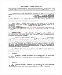 sample commercial purchase agreement 7 documents in pdf