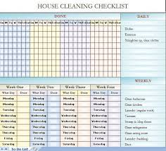 Bathroom Cleaning Schedule Form House Cleaning Schedule Ideas