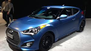 hyundai veloster turbo matte black hyundai shows 2016 veloster rally edition and elantra gt at