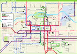 Map Of Spokane Washington Spokane Downtown Transport Map