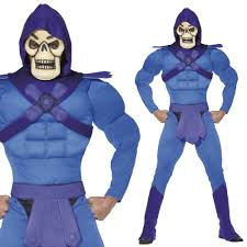 he man fancy dress costume mens superhero skeletor villain 80s