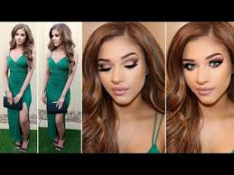 wedding guest makeup hair outfit