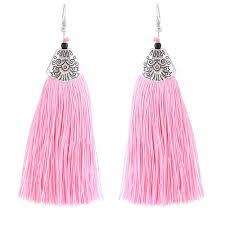 earrings malaysia c110532127 pink bohemian tassel earrings malaysia h0360