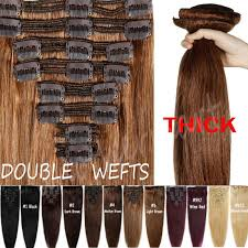 human hair clip in extensions thick wefted clip in remy human hair extensions