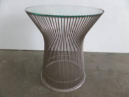 knoll warren platner chrome wire side table luof