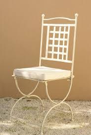 chaises fer forg chaise en fer forgé de style provençal fabrication française