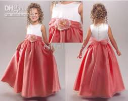 cheap coral pink flower dresses free shipping coral pink