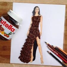 fashion design sketches and fashion dress sketching idea with