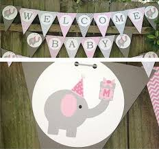baby shower banner ideas pink elephant baby shower banner elephant baby