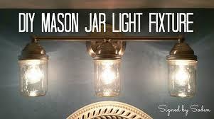 diy mason jar light fixture signed by soden