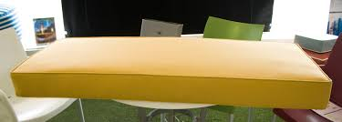 solid yellow bench cushion sunbrella meridian mustard custom