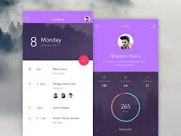 mobile app colors dark dashboard minimalism typographic