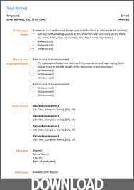 Resume Templates For Openoffice Free Download Free Word Resume Template Download Resume Template And
