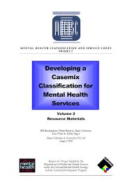 PDF MENTAL HEALTH CLASSIFICA TI ON AND S ER VIC E COSTS PROJ E C T