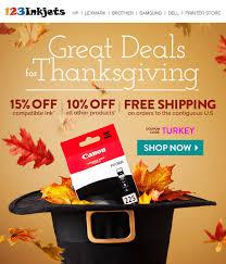 123inkjets thanksgiving promotional email design liliastudio