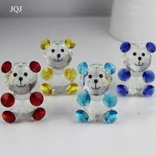 jqj glass teddy figure ornaments feng shui diy