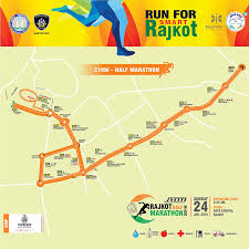 map of rajkot jyoti rajkot half marathon 2016 jyoti cnc automation ltd