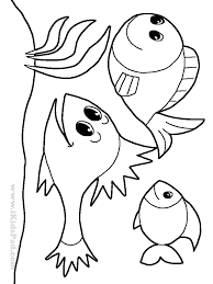 fish drawings for kids coloring page