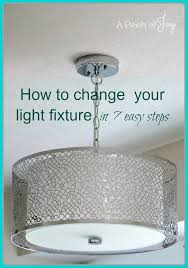 How To Replace Light Fixture How To Change Your Light Fixture In Seven Easy Steps