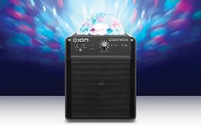 ion portable speaker system with party lights party power portable speaker system with party lights ion audio