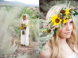 Sunflower Wedding Bouquet Desert Inspired Sunflower Wedding Featured On Peter Loves Jane