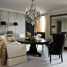 Crystal Light Fixtures Dining Room - wingback dining chairs design ideas
