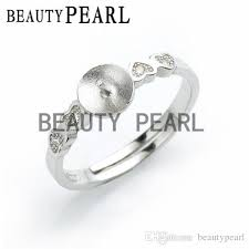 Silver Findings For Jewelry Making - ring settings 925 sterling silver finding for diy pearl jewelry