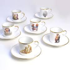Porcelain Coffee Mugs by Set Of 6 Coffee Cups U0026 Saucers In Bernardaud China