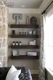 livingroom shelves creative of diy living room shelf ideas floating shelves diy