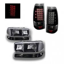 2005 gmc sierra tail lights gmc sierra 1999 2006 black clear headlights and led tail lights